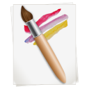 128x128px size png icon of Paintbrush