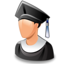 128x128px size png icon of graduated