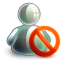 128x128px size png icon of blocked offline