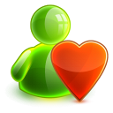 128x128px size png icon of love