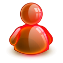 128x128px size png icon of online red