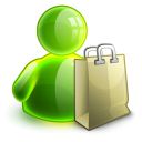 128x128px size png icon of shopping
