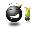 128x128px size png icon of Cocktail Smile
