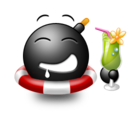 128x128px size png icon of Cocktail emoticon