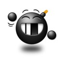 128x128px size png icon of Big grin Smile