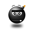 128x128px size png icon of Straight face Smile