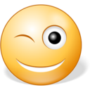 128x128px size png icon of Winking