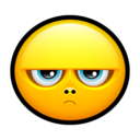 128x128px size png icon of Smiley grumpy 2