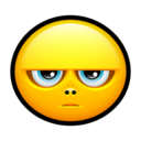 128x128px size png icon of Smiley grumpy