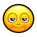 128x128px size png icon of Smiley pleased