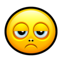 128x128px size png icon of Smiley sad