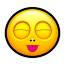 128x128px size png icon of Smiley stick tongue