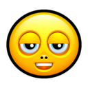 128x128px size png icon of Smiley stoned