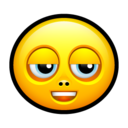 128x128px size png icon of Smiley untroubled