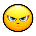 128x128px size png icon of Smiley upset 2