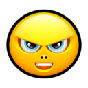 128x128px size png icon of Smiley upset 4