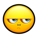 128x128px size png icon of Smiley upset