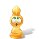 128x128px size png icon of Bishop Chess