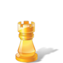 128x128px size png icon of Rook Chess