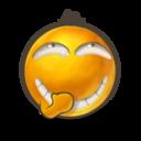 128x128px size png icon of Secret laugh