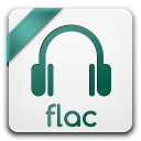 128x128px size png icon of flac