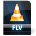 128x128px size png icon of Flv File