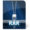128x128px size png icon of Rar File
