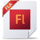 128x128px size png icon of fla