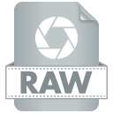128x128px size png icon of Filetype RAW
