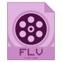 128x128px size png icon of flv