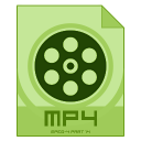 128x128px size png icon of mp 4
