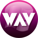 128x128px size png icon of WAV plum