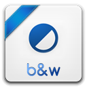 128x128px size png icon of b w