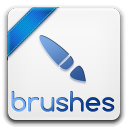 128x128px size png icon of brushes