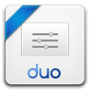 128x128px size png icon of duo