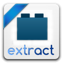 128x128px size png icon of extract
