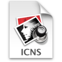 128x128px size png icon of icns