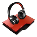 128x128px size png icon of Audio folder