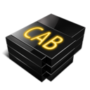 128x128px size png icon of Cab file