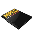 128x128px size png icon of Mpeg file