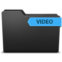 128x128px size png icon of ribbonvideo