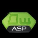 128x128px size png icon of Adobe dreamweaver asp v2