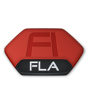 128x128px size png icon of Adobe flash fla v2