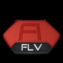 128x128px size png icon of Adobe flash flv v2