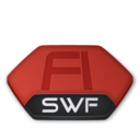 128x128px size png icon of Adobe flash swf v2