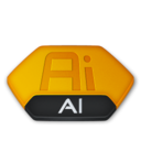 128x128px size png icon of Adobe illustrator ai v2