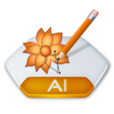 128x128px size png icon of Adobe illustrator ai