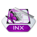 128x128px size png icon of Adobe indesign inx