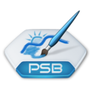 128x128px size png icon of Adobe photoshop psb