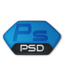 128x128px size png icon of Adobe photoshop psd v2